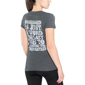 inov-8 Tri Blend Obsessed Camiseta Manga Corta Mujer, black